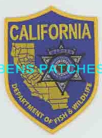 Ben 39 s patch collection for Department of fish and game california