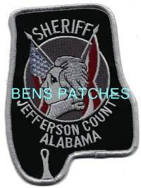 JEFFERSON COUNTY SHERIFF ALABAMA AL DISPATCHER PATCH POLICE STATE SHAPED