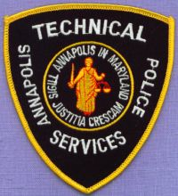 ANNAPOLIS MARYLAND MD Technical Services POLICE PATCH