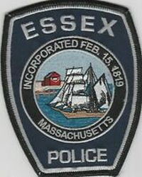 Massachusetts Becket Police Patch yellow border